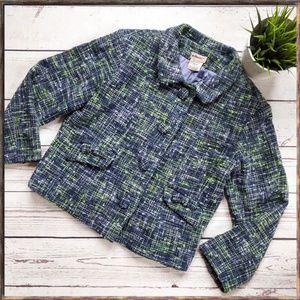 ANTHROPOLOGIE ELEVENSES Tweed Boucle Jacket, 4
